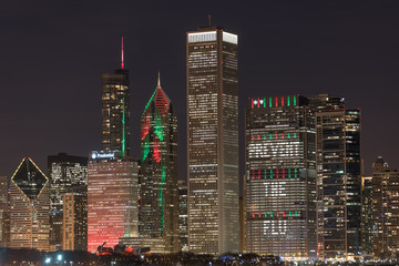 Wall Mural - Chicago Christmas Lights