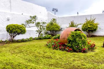 Jardin con adorno