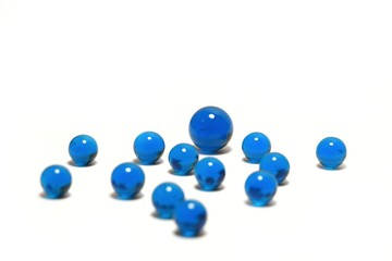 blue marble balls