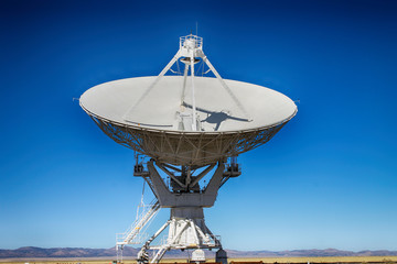 A  radio telescope from the VLA in New Mexico