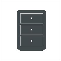 Cupboard icon.  illustration