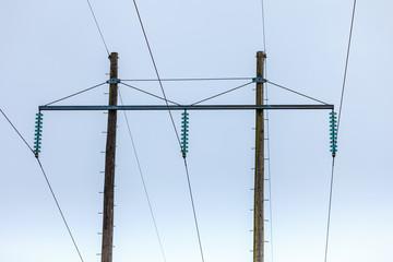 Voltage poles, electricity pylon, transmission power tower