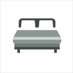 Bed icon.  illustration
