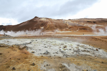 Namafjall geothermal area in Iceland