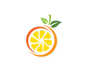 Orange logo design Vector illustration
