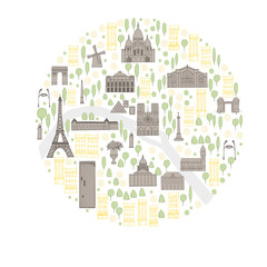 Paris. Vector sketch illustration