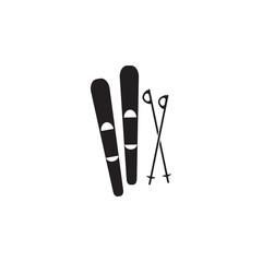 skis and a sticks icon