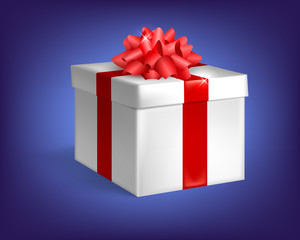 Closed gift, gift box with bow