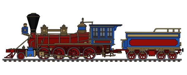 Vintage american wild west steam locomotive