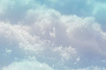 Snow texture for background. Natural snow background