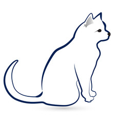 Cat silhouette icon design vector