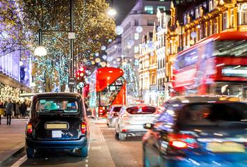 Oxford street in Christmas time, London