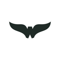 W Wings Initial Letter Logo Vector