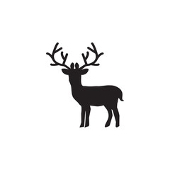 Deer Icon. Winter element. Premium quality graphic design. Signs, outline symbols collection, simple icon for websites, web design, mobile app