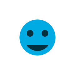 Tag face icon colored symbol. Premium quality isolated smile element in trendy style.