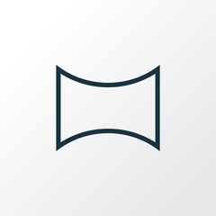 Angle icon line symbol. Premium quality isolated panorama element in trendy style.