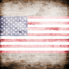 Abstract USA flag on grunge background pattern