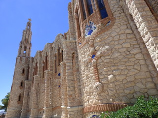 Santuario de Santa María Magdalena en Novelda, Alicante (Comunidad Valenciana, España) Templo similar a Sagrada Familia de Barcelona