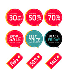 Set of Sale price tag collection