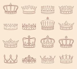 Set of Crown Illustrations