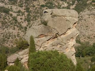 Naturaleza en Miravete de la Sierra. Pueblo con encanto de la provincia de Teruel (España) comunidad autónoma de Aragón, de la comarca del Maestrazgo