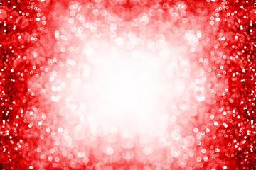 Red sparkle background border for birthday, New Year, Christmas or Valentine frame