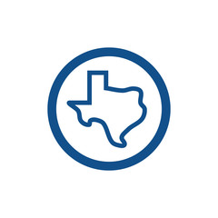 Texas Maps Logo Vector
