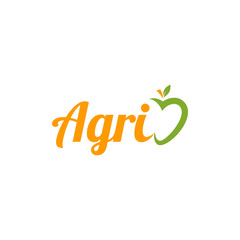 Fresh Agriculture Farm Village with Apple Fruit Logo Vector