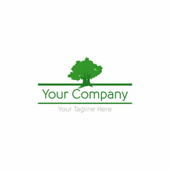 Strong Elegant Green Tree Logo vector