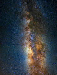 milky way on the dark sky background