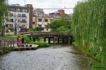 白川の一本橋