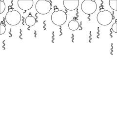line christmas circle balls decoration design