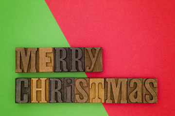 Merry Christmas on a Modern Simple Duel colored Background