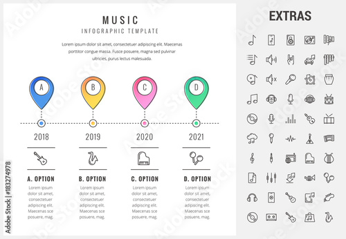 Music timeline infographic template elements and icons infograph music timeline infographic template elements and icons infograph includes options with years line saigontimesfo