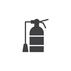 Fire extinguisher icon vector, filled flat sign, solid pictogram isolated on white. Symbol, logo illustration.