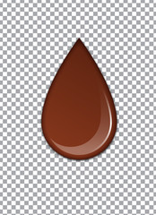 Melted Chocolate Syrup. Sweet Design. Vector illustration