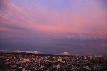 Jsut after sunset in Kyoto