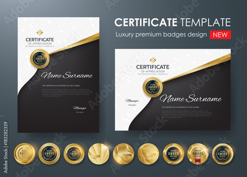 Certificate template with luxury patterndiplomavector certificate template with luxury patterndiplomavector illustration and vector luxury premium badges design yadclub Gallery