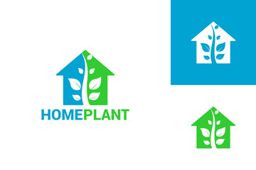 Plant House Logo Template Design