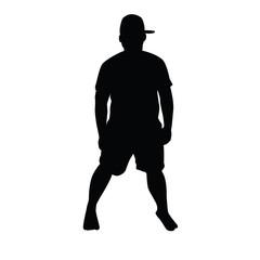 posing man silhouette illustration design