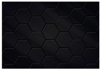 black polygon background illustration design