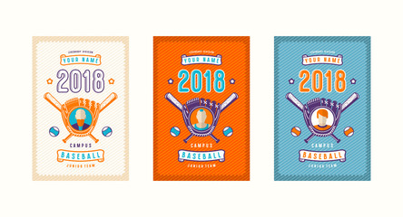 Set of baseball card design