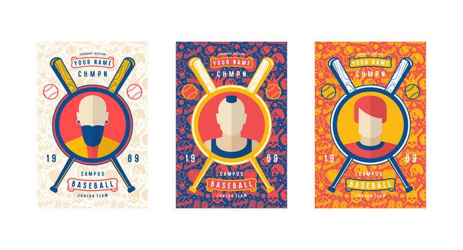 Set of baseball card design