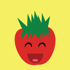 cute and funny vector design of a strawberry