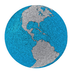 planet earth north america and south america rough metal