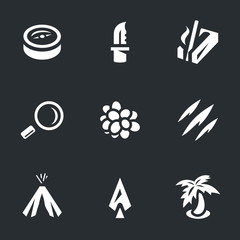 Vector Set of Survival Icons.