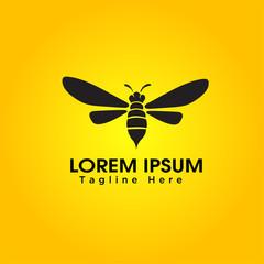 Bee art logo