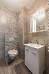 Clean and fresh bathroom with natural light