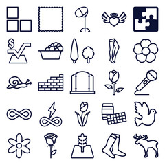 Set of 25 pattern outline icons