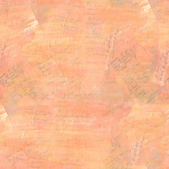 Seamless pattern of handwritten texts, vintage collage